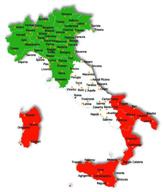 italien karta ItalienKarta – MiSenti Kommunikation italien karta